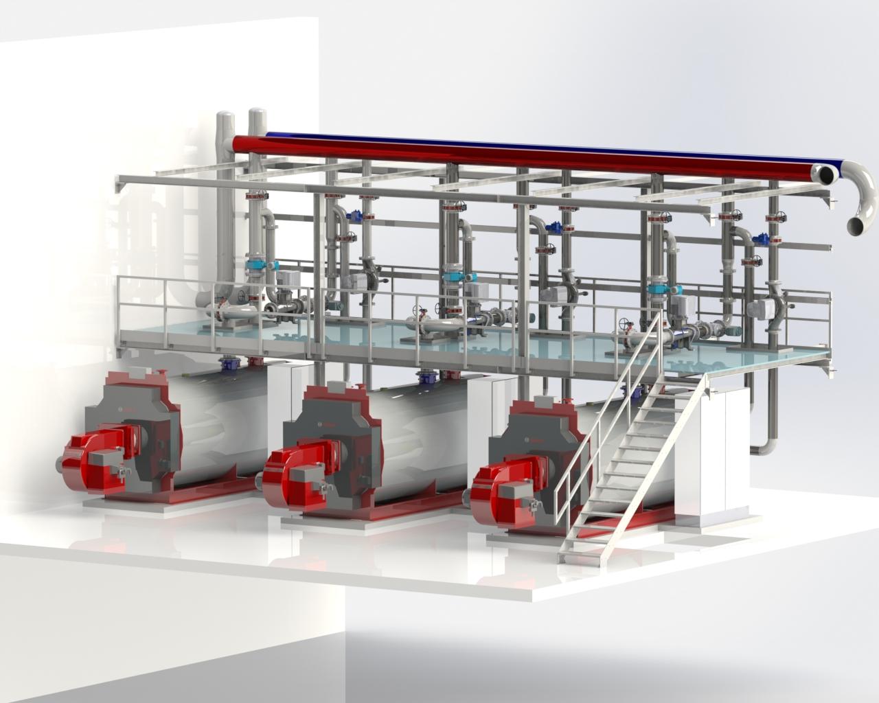 CAD Bild für die Energiezentrale im Center Parcs Allgäu