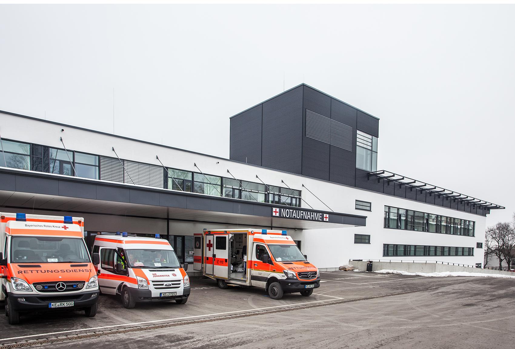Außenaufnahme Klinikum Kempten Notaufnahme
