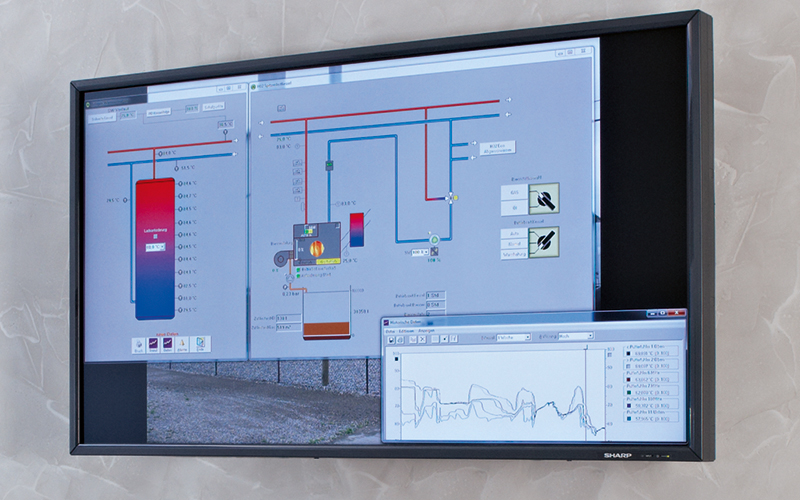 Remote monitoring on a monitor