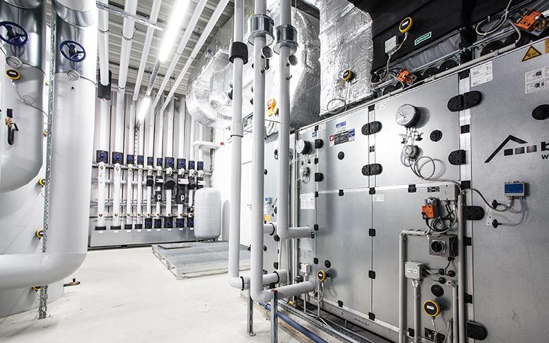 Beispielbild für die technische Gebäudeausrüstung, kurz TGA.