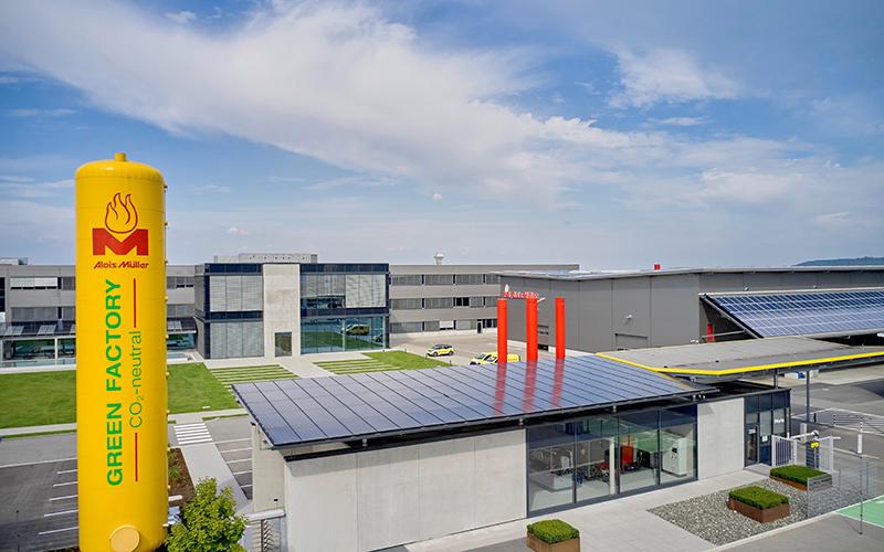 Luftaufnahme der Green Factory