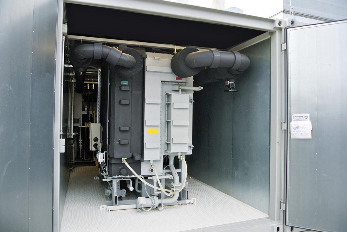 Absorbtionskältemaschine im Container