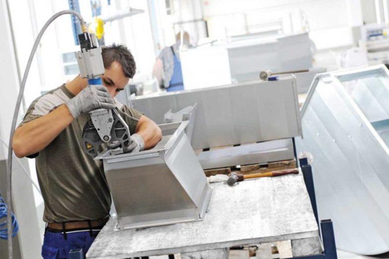 Luftkanalfertigung Green Factory in Ungerhausen