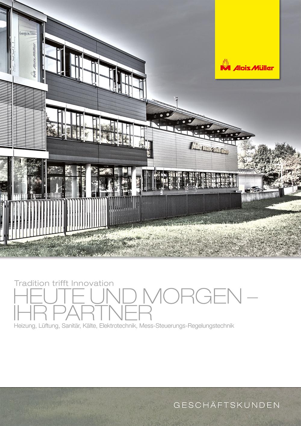 Alois Müller Broschüre für Geschäftskunden