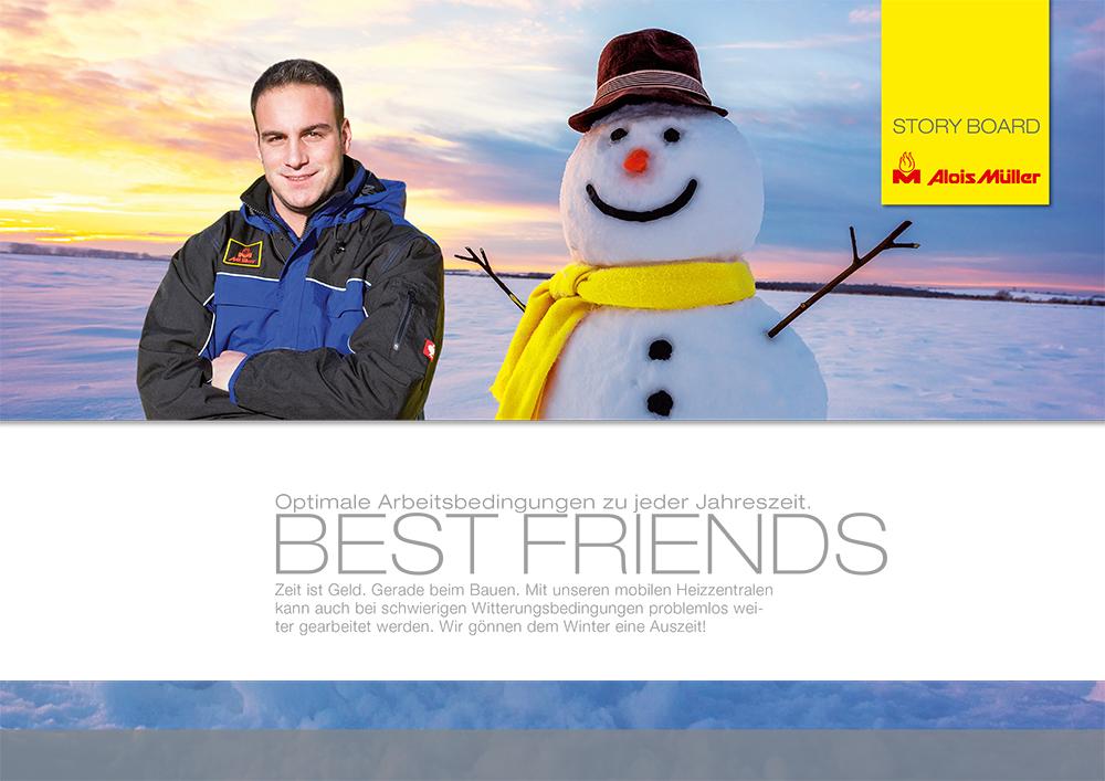 Storyboard BEST-FRIENDS über mobile Heizzentralen