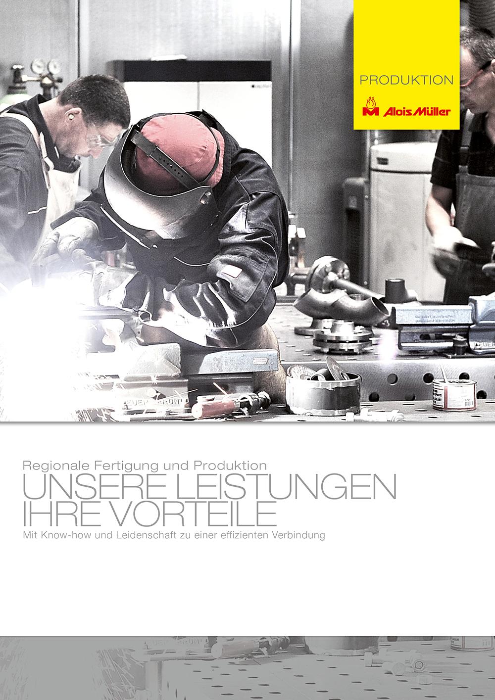 Broschüre Müller Produktion in Ungerhausen, der Green Factory